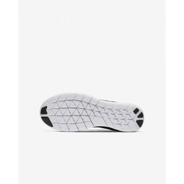 Nike Free Rn Flyknit 2017 Laufschuhe Mädchen Schwarz Dunkelgrau Metallic Silber 181-40911