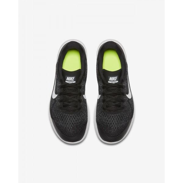 Nike Free Rn 2017 Laufschuhe Mädchen Schwarz Dunkelgrau Weiß 875-97621
