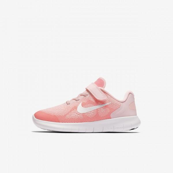Nike Free Rn 2017 Laufschuhe Mädchen Pink Weiß Metallic Weiß 449-14460