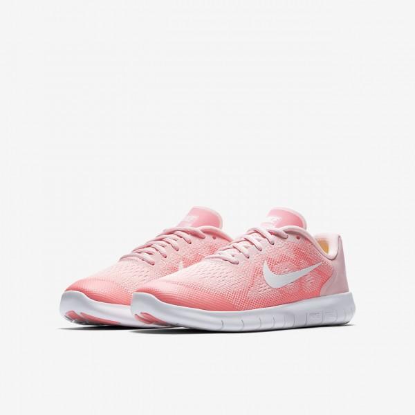 Nike Free Rn 2017 Laufschuhe Mädchen Pink Weiß Metallic Weiß 480-65992
