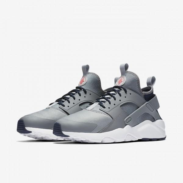 Nike Air Huarache Ultra Freizeitschuhe Herren Grau Obsidian Rot 389-39891
