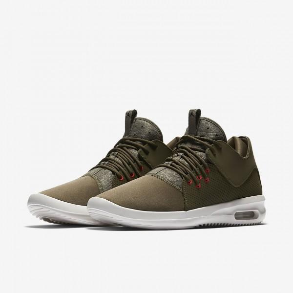Nike Air Jordan First Class Freizeitschuhe Herren Olive Weiß Rot Schwarz 585-28264