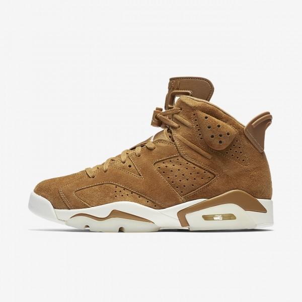 Nike Air Jordan 6 Retro Freizeitschuhe Herren Gold...
