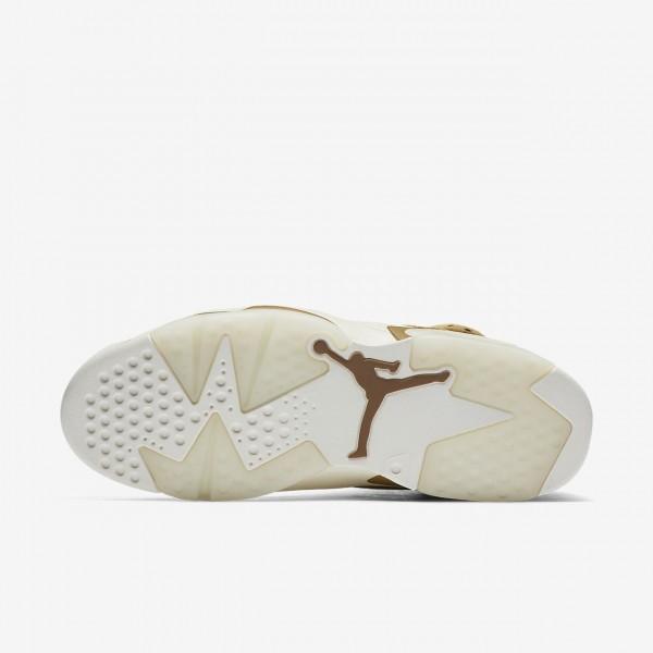 Nike Air Jordan 6 Retro Freizeitschuhe Herren Gold Weiß 890-25452