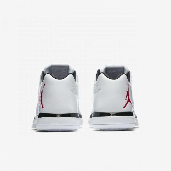 Nike Air Jordan XXXI low Basketballschuhe Herren Weiß Schwarz Platin Rot 396-26022