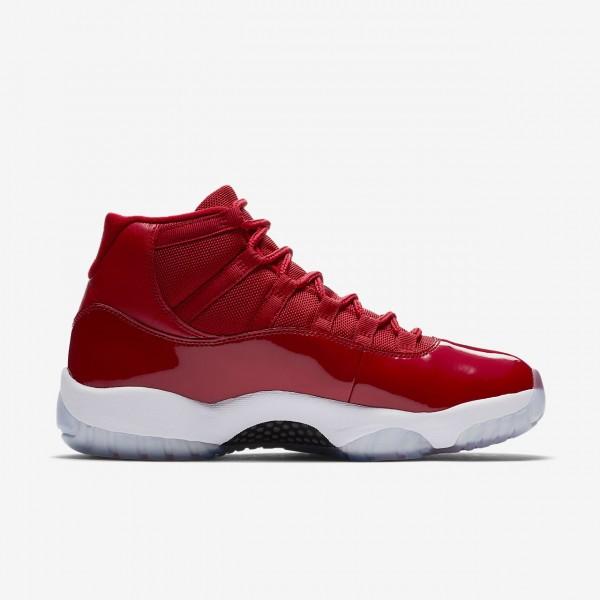 Nike Air Jordan XI Retro Freizeitschuhe Herren Rot Weiß Schwarz 308-55753