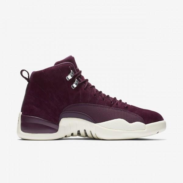 Nike Air Jordan 12 Retro Outdoor Schuhe Herren Bordeaux Metallic Silber Weiß 950-58759