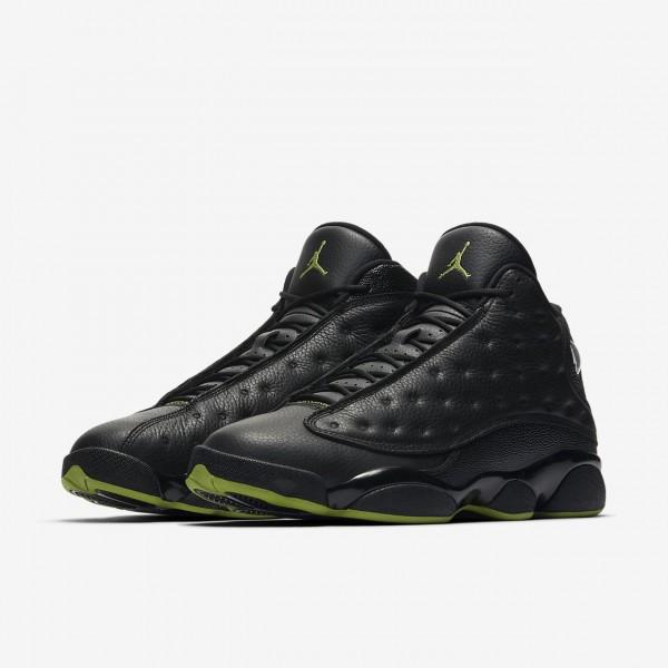 Nike Air Jordan 13 Retro Freizeitschuhe Herren Schwarz Grün 641-28853