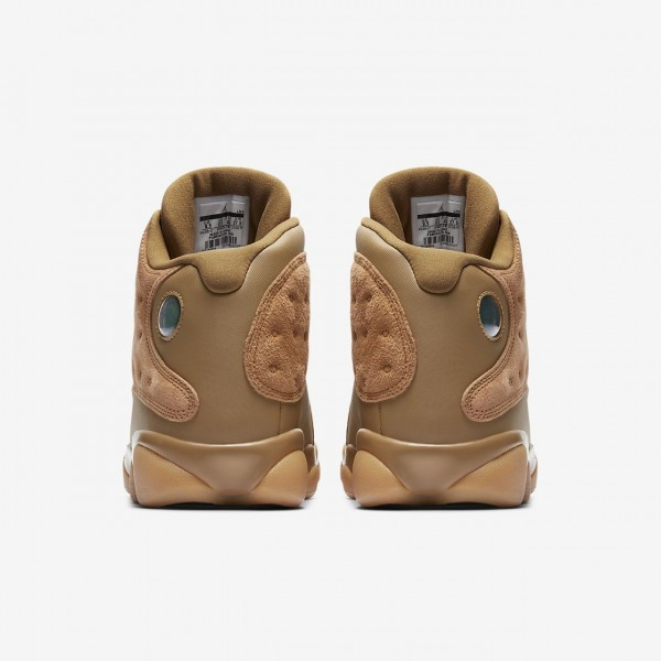 Nike Air Jordan 13 Retro Freizeitschuhe Herren Gold Gelb Braun 533-45404