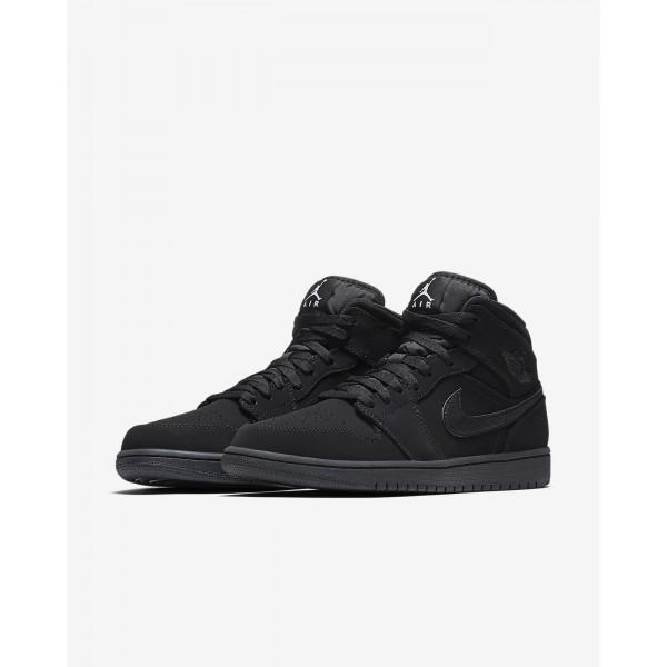 Nike Air Jordan 1 Mid Freizeitschuhe Herren Schwarz Weiß 604-93874
