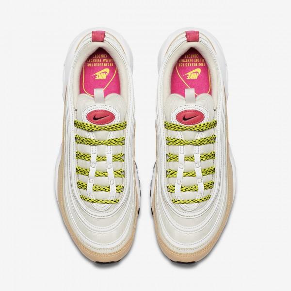 Nike Air Max 97 Freizeitschuhe Damen Weiß Beige Grün Rosa 164-43154