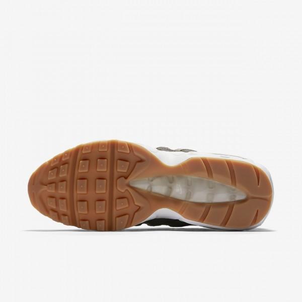 Nike Air Max 95 Og Freizeitschuhe Damen Sand Dunkelgrau Braun Weiß 490-17475