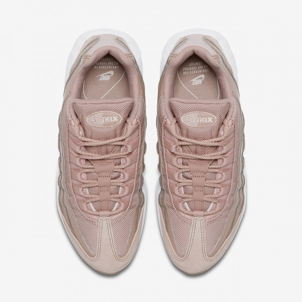 Nike Air Max 95 Og Freizeitschuhe Damen Pink Weiß Grau Rot 409-28480