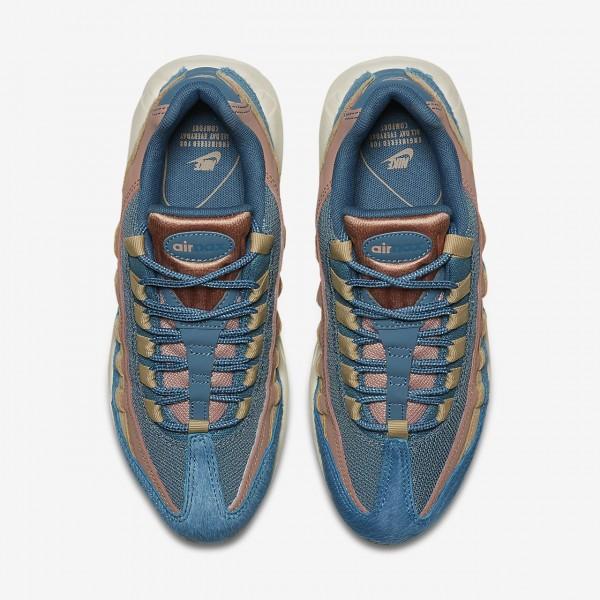 Nike Air Max 95 Lx Freizeitschuhe Damen Blau Beige Pink 501-12066