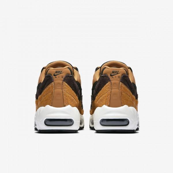 Nike Air Max 95 Lx Freizeitschuhe Damen Orange Weiß Schwarz 793-10393