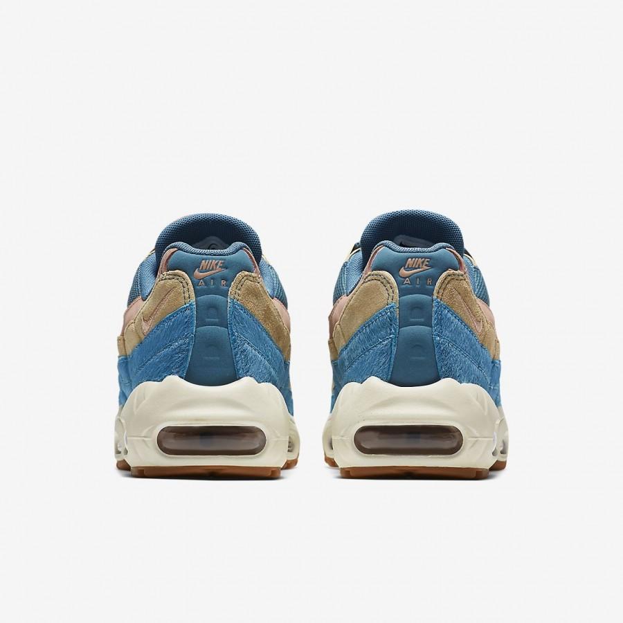Nike Air Max 95 Lx Freizeitschuhe Damen Blau Beige Pink 501