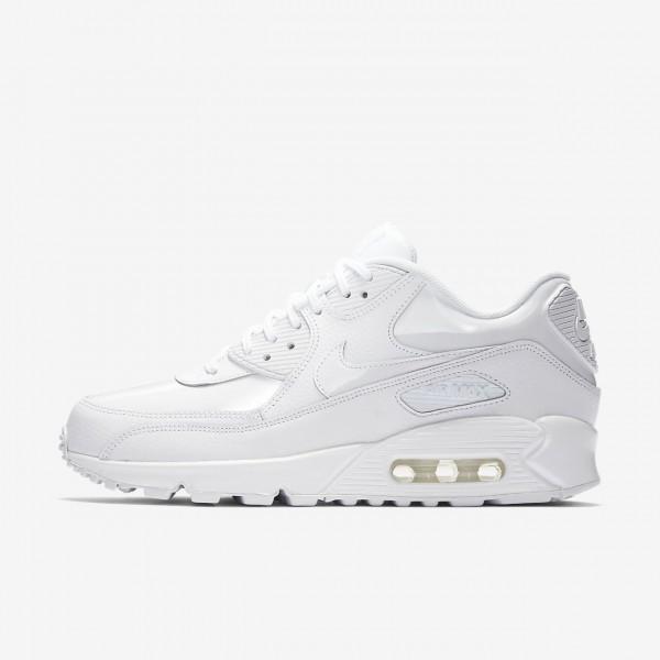 Nike Air Max 90 Patent Freizeitschuhe Damen Weiß ...
