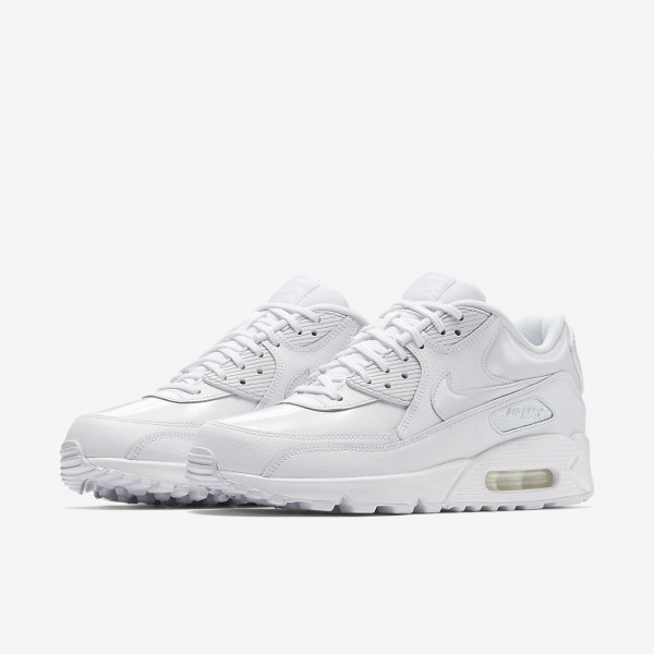 Nike Air Max 90 Patent Freizeitschuhe Damen Weiß 277-36382