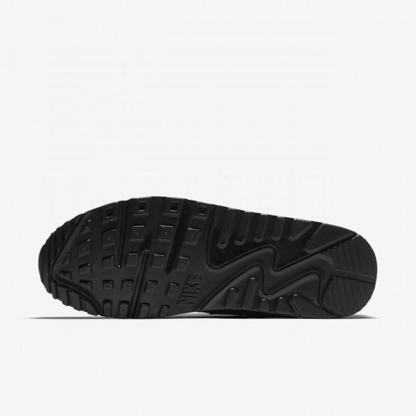 Nike Air Max 90 Patent Freizeitschuhe Damen Schwarz 845-15383
