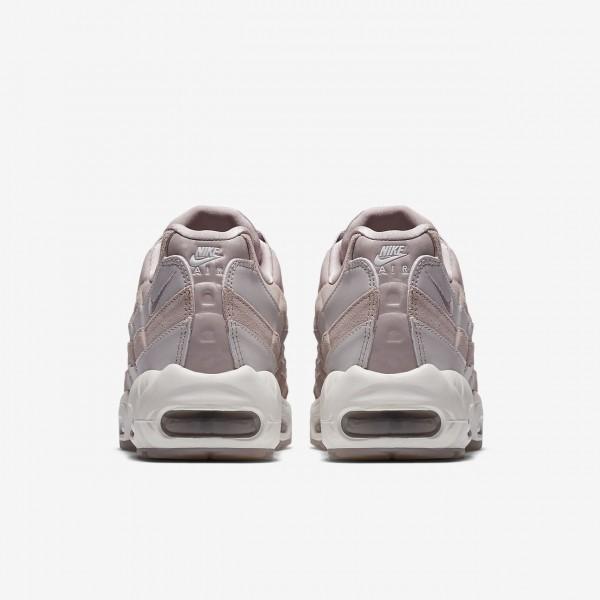 Nike Air Max 95 Lx Freizeitschuhe Damen Rosa Grau Weiß 775-89283