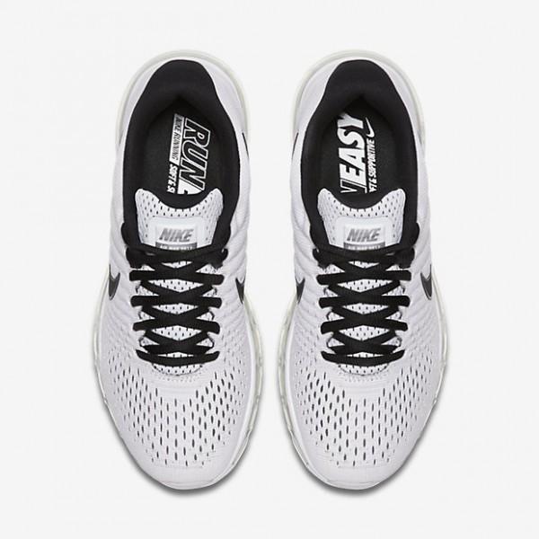 Nike Air Max 2017 Laufschuhe Damen Weiß Platin Schwarz 508-10249