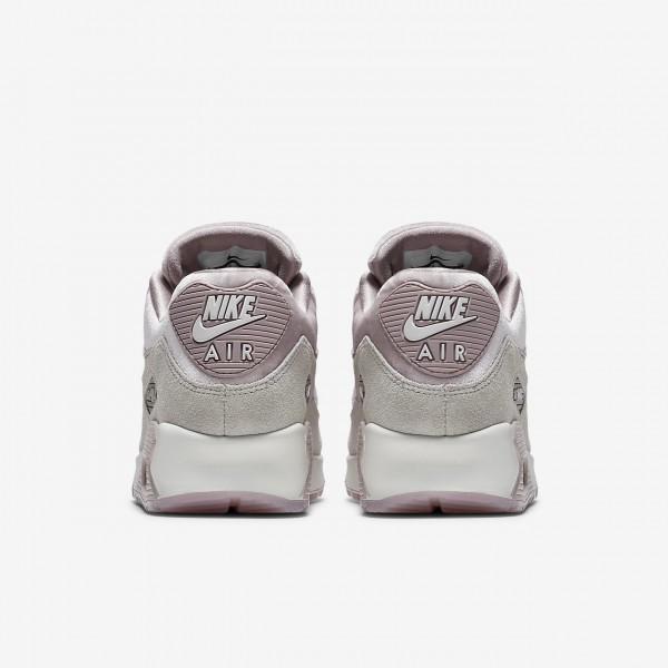 Nike Air Max 90 Lx Freizeitschuhe Damen Rosa Grau Weiß 498-97998