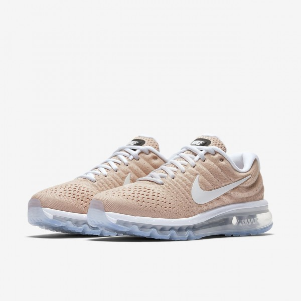 Nike Air Max 2017 Laufschuhe Damen Beige Weiß 367-96204