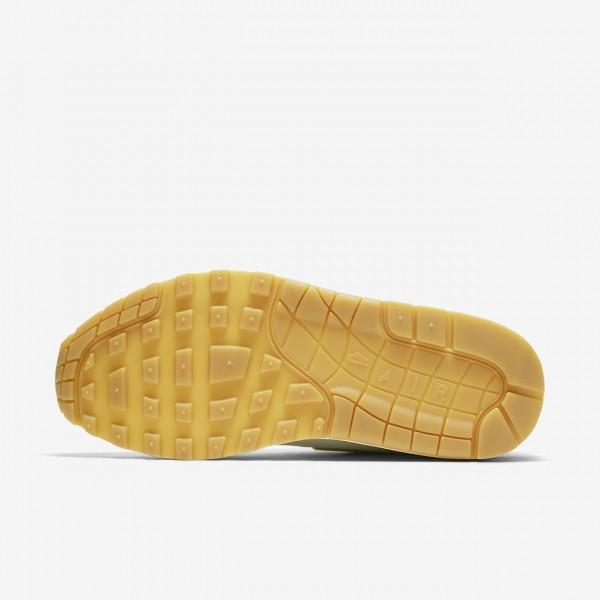 Nike Air Max 1 Premium Sc Freizeitschuhe Damen Weiß Hellbraun Metallic Gold 858-32020