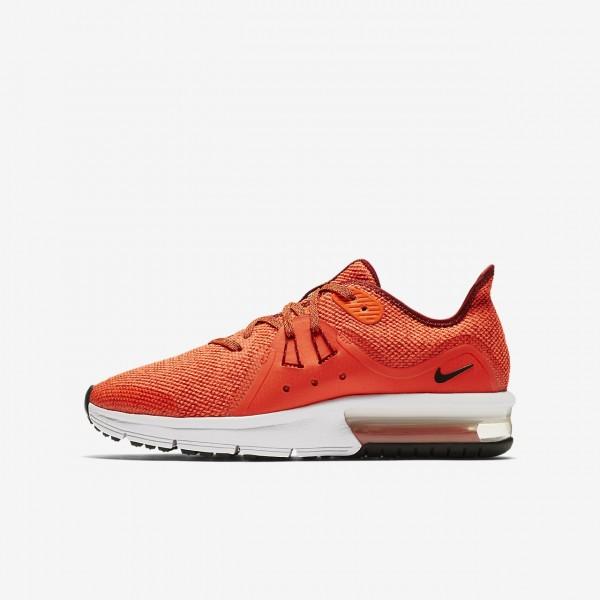 Nike Air Max Sequent 3 Laufschuhe Jungen Rot Weiß...