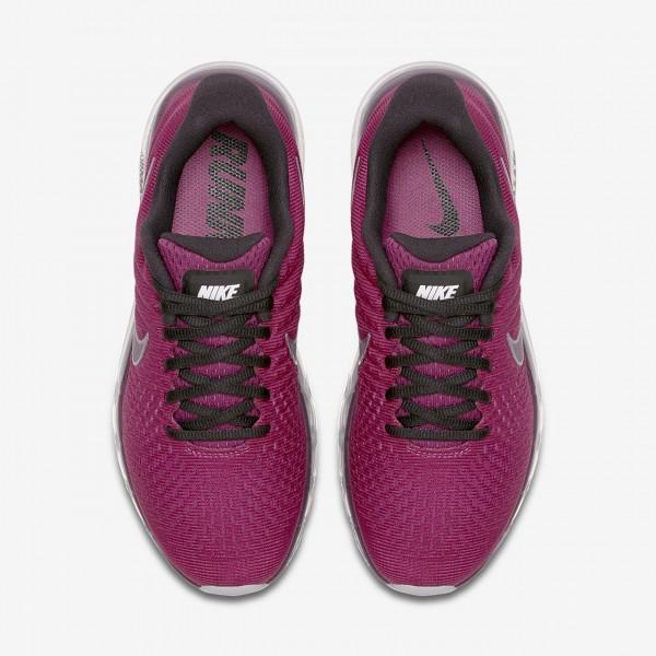 Nike Air Max 2017 Laufschuhe Damen Fuchsie Grau Rot 186-69359