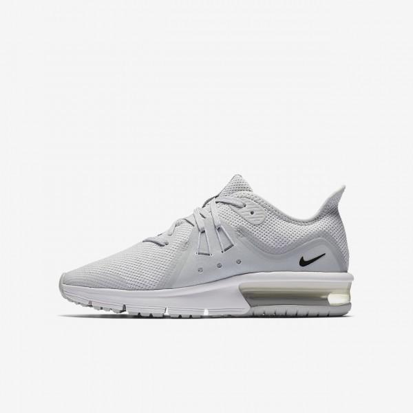 Nike Air Max Sequent 3 Laufschuhe Jungen Platin We...