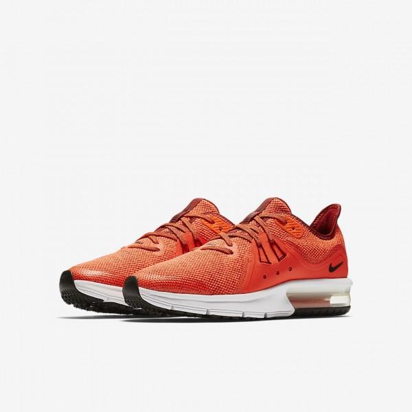 Nike Air Max Sequent 3 Laufschuhe Jungen Rot Weiß Schwarz 392-38574