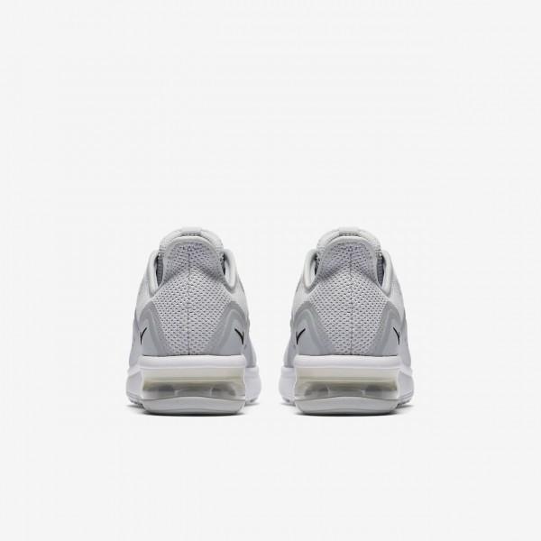 Nike Air Max Sequent 3 Laufschuhe Jungen Platin Weiß Grau Schwarz 372-89933