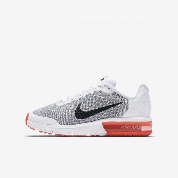 Nike Air Max Sequent 2 Laufschuhe Jungen Weiß Rot...