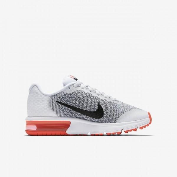 Nike Air Max Sequent 2 Laufschuhe Jungen Weiß Rot Grau Schwarz 413-90778