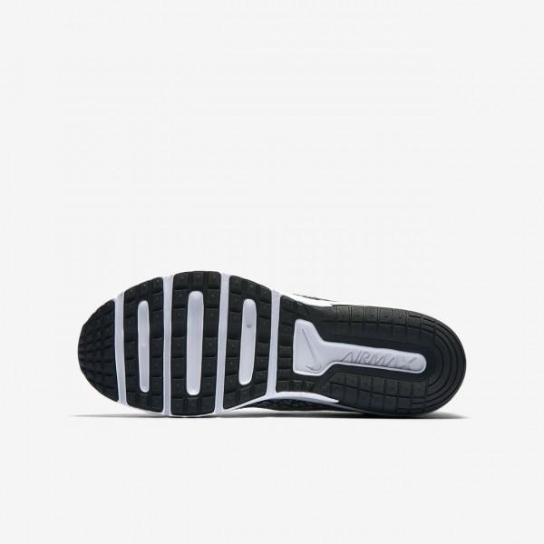 Nike Air Max Sequent 2 Laufschuhe Jungen Schwarz Dunkelgrau Metallic Silber 825-67652