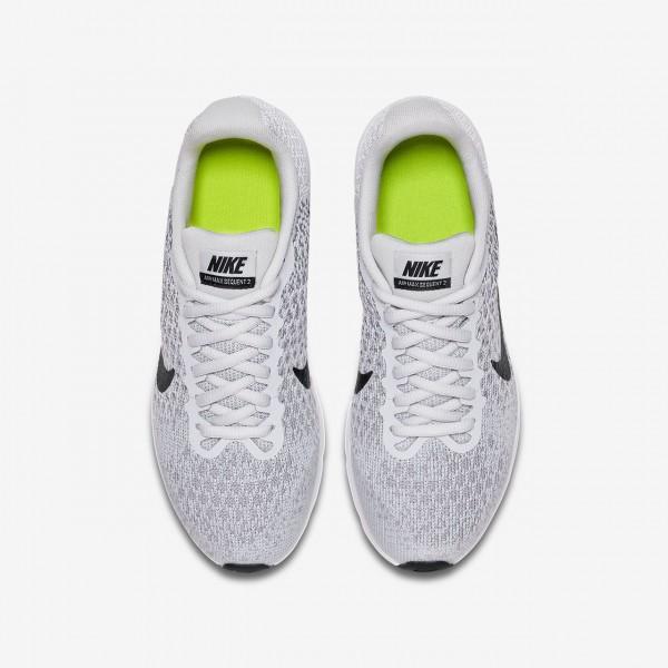 Nike Air Max Sequent 2 Laufschuhe Jungen Platin Grau Schwarz 936-84008