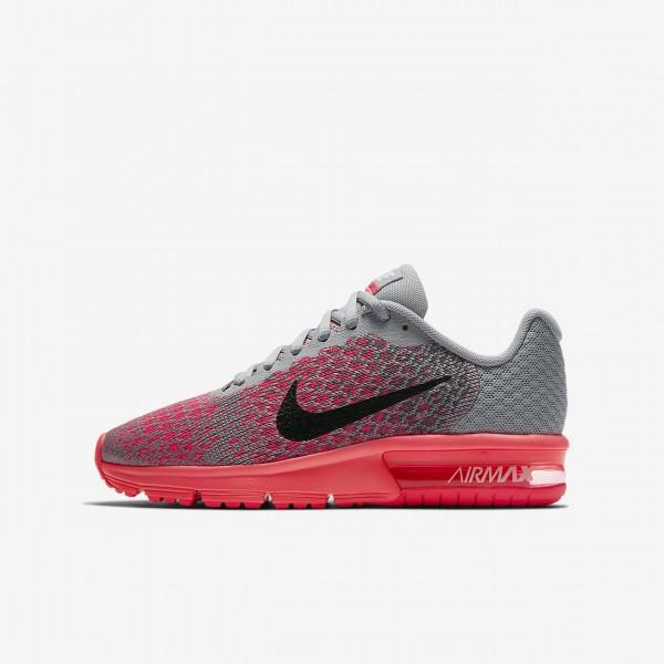 Nike Air Max Sequent 2 Laufschuhe Jungen Grau Rosa...