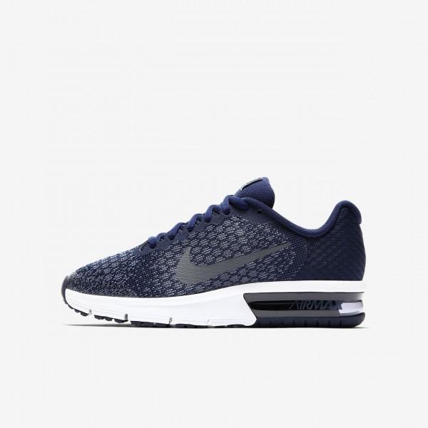 Nike Air Max Sequent 2 Laufschuhe Jungen Blau Dunk...