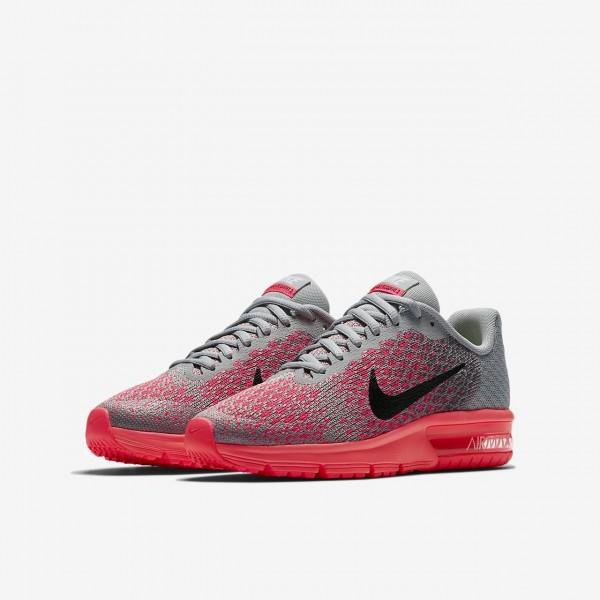 Nike Air Max Sequent 2 Laufschuhe Jungen Grau Rosa Schwarz 454-28227