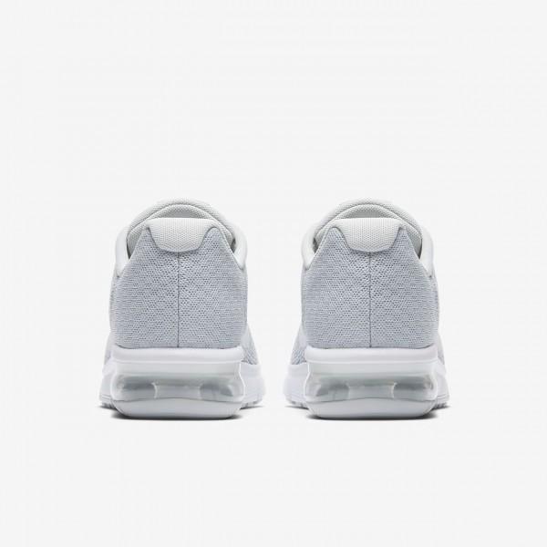 Nike Air Max Sequent 2 Laufschuhe Jungen Platin Grau Metallic Platin Weiß 644-91849