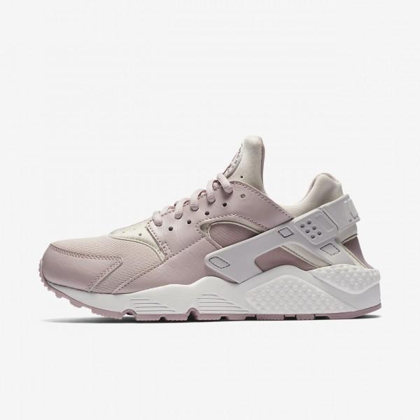 Nike Air Huarache Freizeitschuhe Damen Grau Weiß Rosa 765-63809