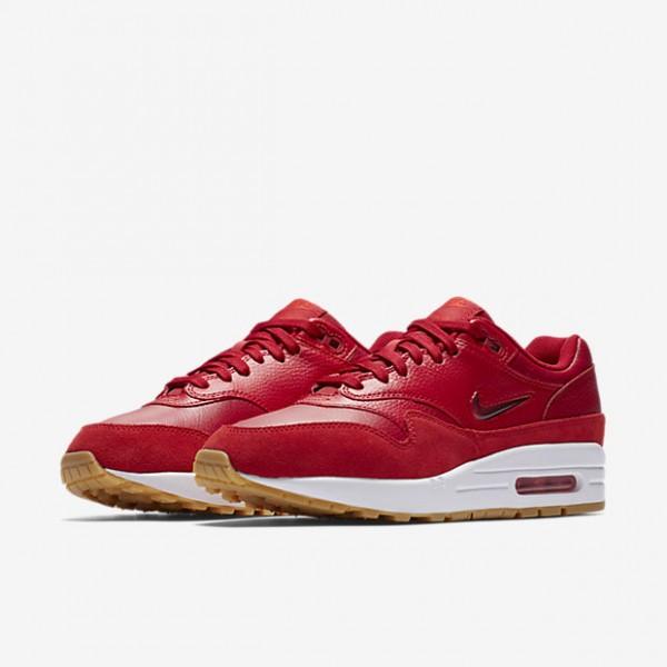 Nike Air Max 1 Premium Sc Freizeitschuhe Damen Rot Hellbraun 232-59679