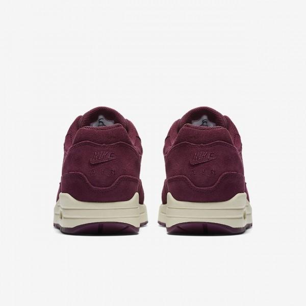 Nike Air Max 1 Premium Sc Freizeitschuhe Damen Bordeaux Beige Hellbraun 403-86432