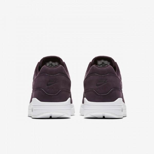 Nike Air Max 1 Premium Freizeitschuhe Damen Rot Weiß 979-93966