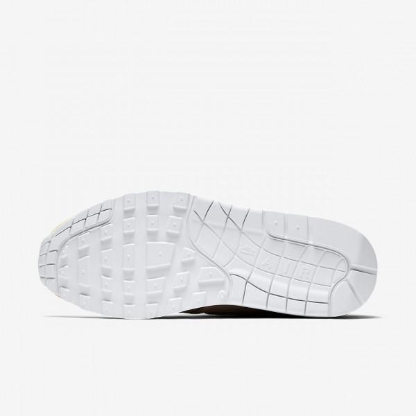 Nike Air Max 1 Premium Freizeitschuhe Damen Beige Weiß 799-13867