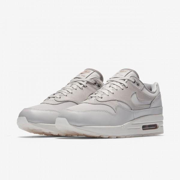 Nike Air Max 1 Premium Freizeitschuhe Damen Grau Weiß 433-24421
