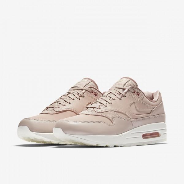 Nike Air Max 1 Premium Freizeitschuhe Damen Beige Pink Weiß 557-63179