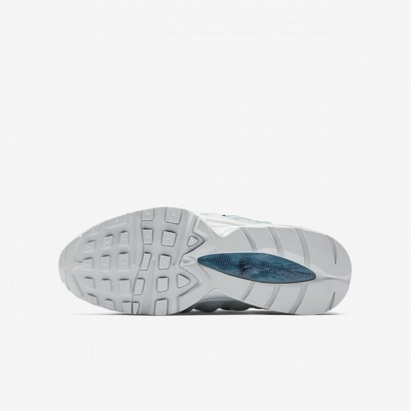 Nike Air Max 95 Freizeitschuhe Jungen Platin Schwarz Navy 635-70987