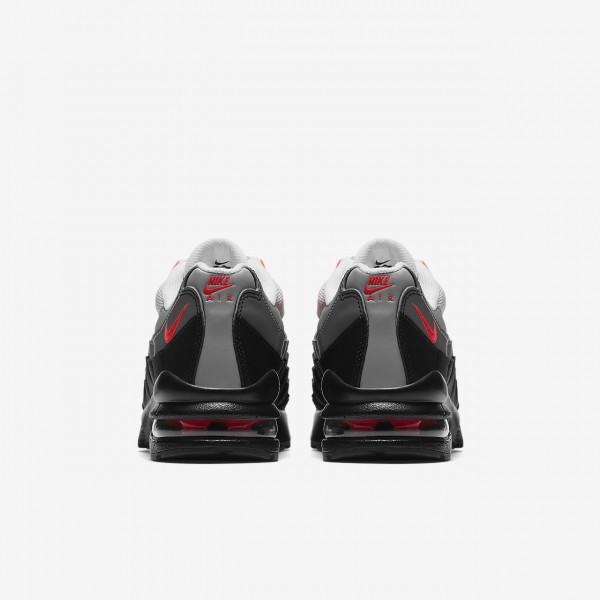 Nike Air Max 95 Freizeitschuhe Jungen Schwarz Weiß Grau Rot 632-51288